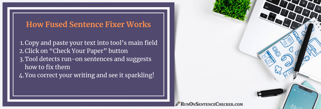 how our sentence fragment fixer works