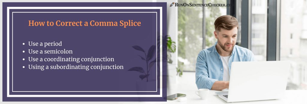how to correct a comma splice