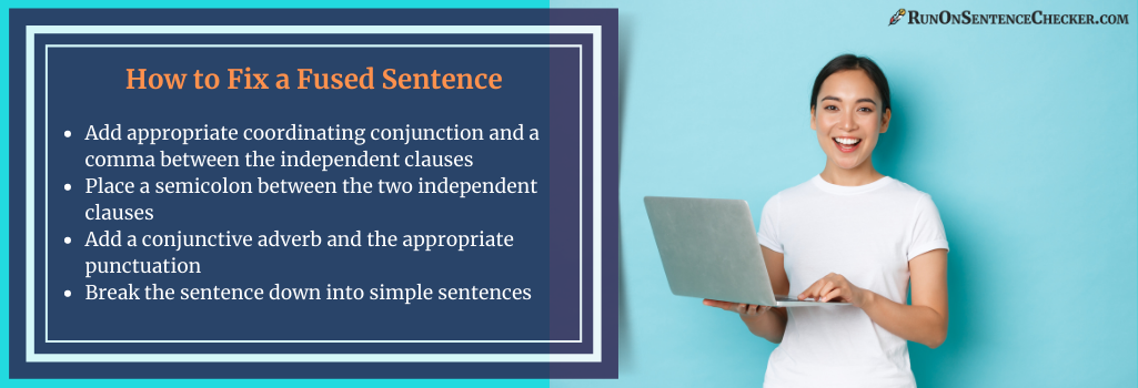 tips on how to fix a fused sentence