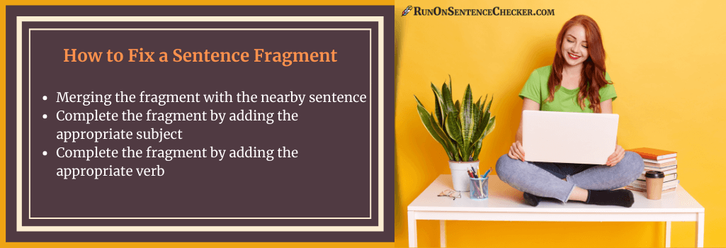 tips on how to fix a sentence fragment