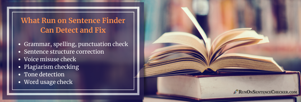 what run on sentence checker can detect and correct